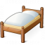 Wooden Bed Icon 64x64